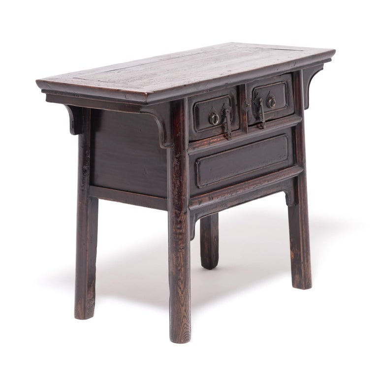 Originally this table would have been used in a traditional Shanxi home as an incense stand, for serving wine or for displaying potted landscapes or other collectibles. It has developed a proud presence that is only achieved through life's natural