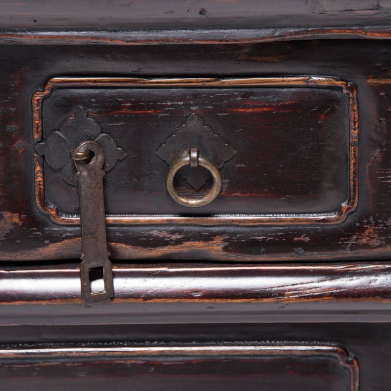 Chinese Tapered Two-Drawer Chest For Sale 1