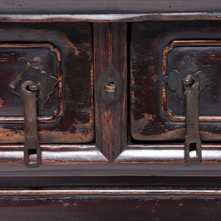 Chinese Tapered Two-Drawer Chest For Sale 2