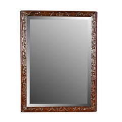 Chinese Floral Carved Frame with Mirror