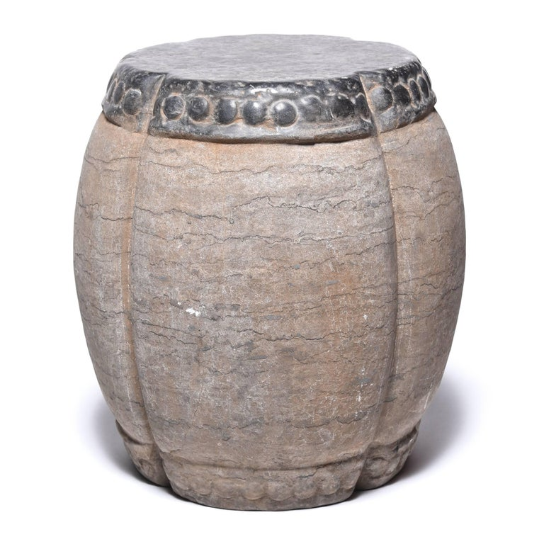Chinese Clover Form Stone Drum For Sale At 1stdibs