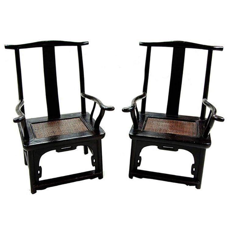Pair of chinese tall back porch chairs for sale at 1stdibs for Asian chairs for sale