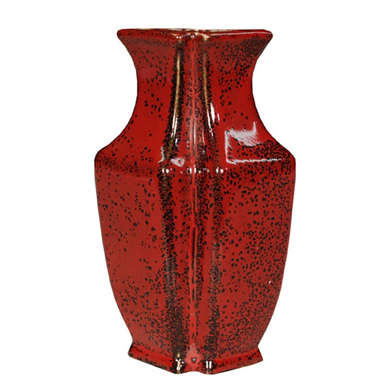 Pair of Chinese Petite Oxblood Double Form Vases For Sale