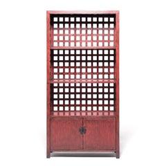 Chinese Lattice Studio Shelf
