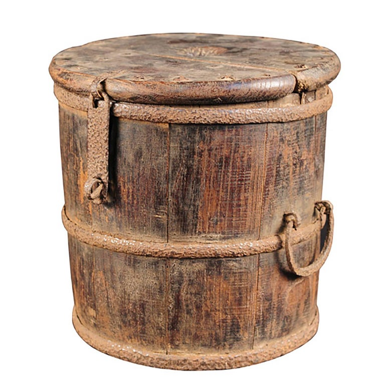 19th Century Chinese Merchant's Coin Barrel