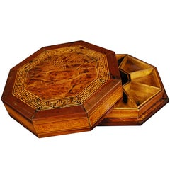Chinese Eight Sided Parquetry Snack Box