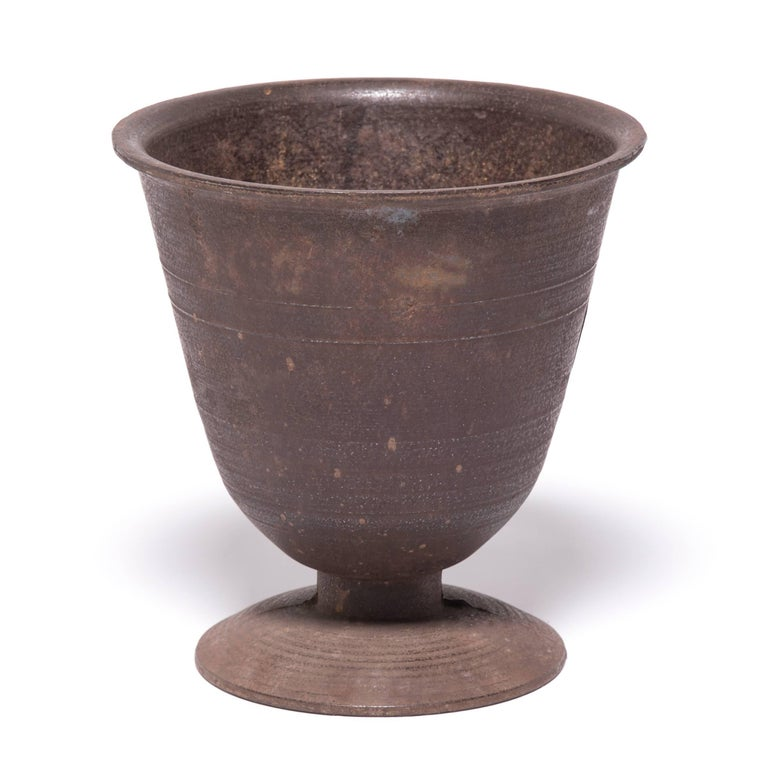 Korean Chinese Cast Iron Apothecary Mortar For Sale