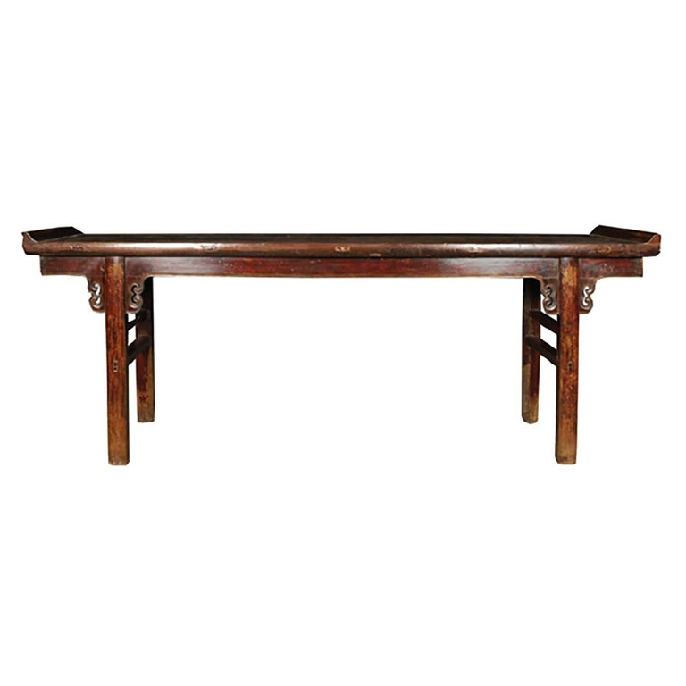 Chinese Lacquered Altar with Double Ear Spandrels