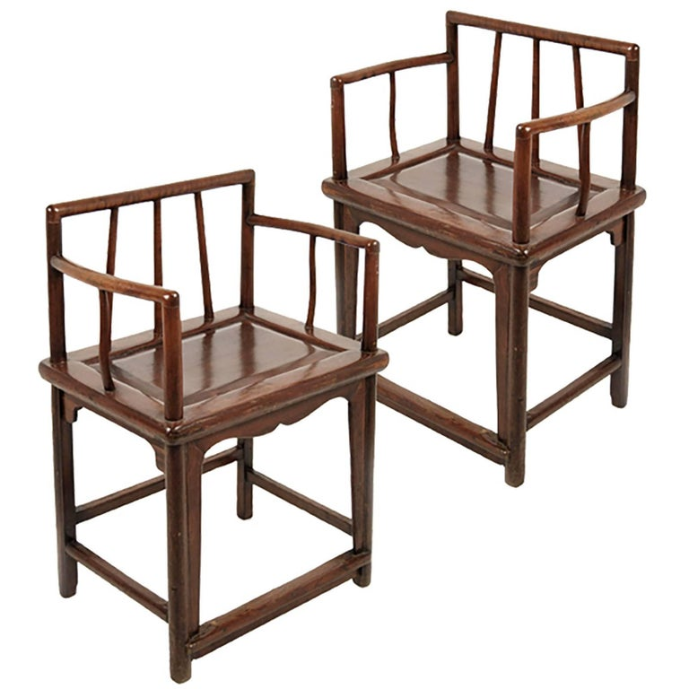 Pair of chinese spindleback chairs for sale at 1stdibs for Asian chairs for sale