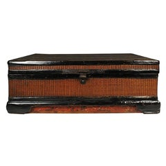 Chinese Fine Woven Lacquered Trunk