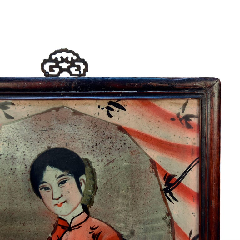Chinese Reverse Glass Portrait Painting 3
