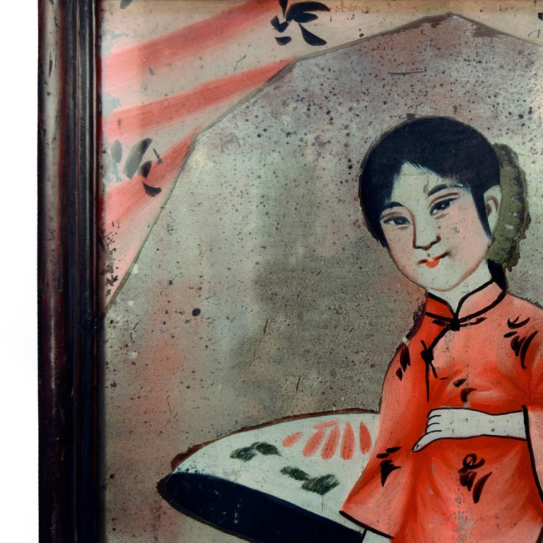 Chinese Reverse Glass Portrait Painting 2