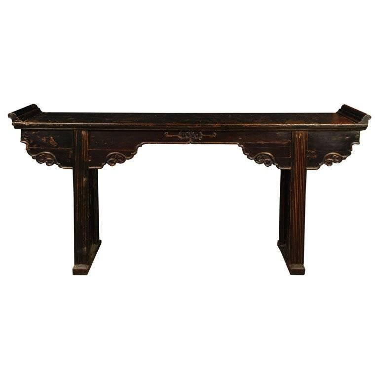 Chinese Shallow Altar Table For Sale