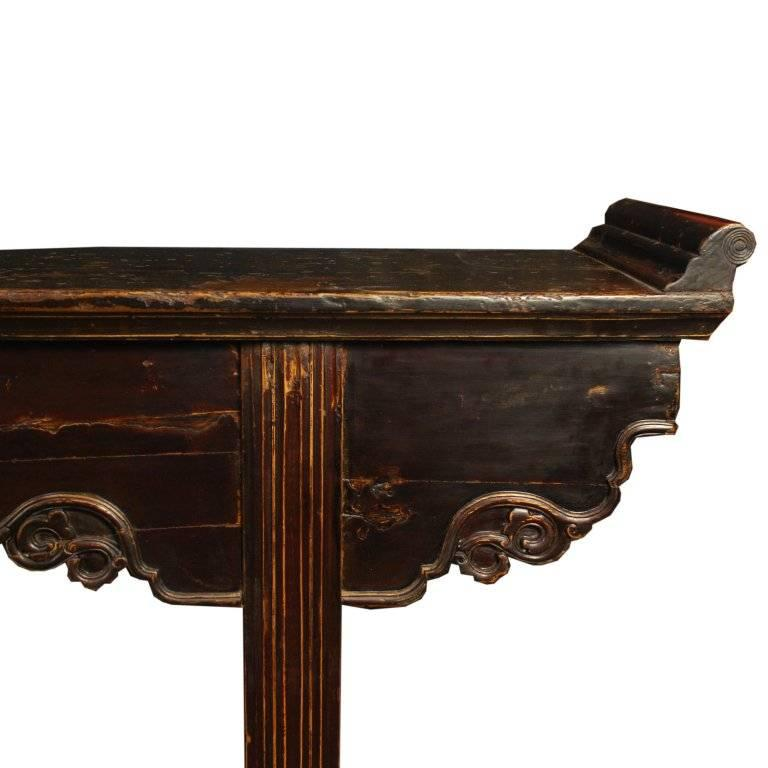Qing Chinese Shallow Altar Table For Sale