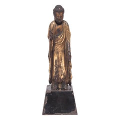 19th Century Japanese Gilt Standing Buddha