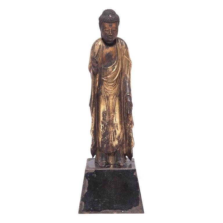 19th Century Japanese Gilt Standing Buddha