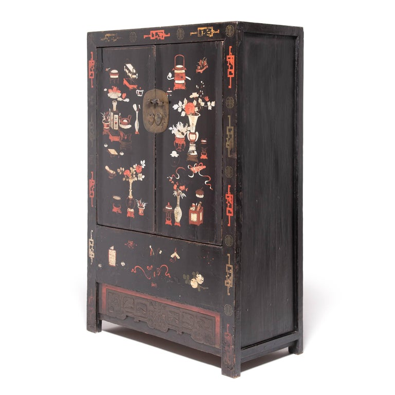 19th Century Chinese Scholars' Cabinet In Good Condition For Sale In Chicago, IL