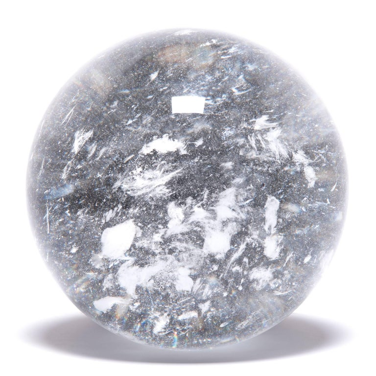 Gem lore is endless, and every culture has its own beliefs about specific stones tied to cultural history, geography, and spiritual practices. In China, some practitioners of Feng Shui value clear quartz, like this beautiful crystal ball, for its