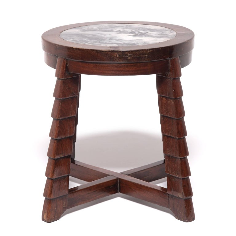 In the 1920s, Shanghai, China was swept up in the Art Deco design movement, permeating every part of life in the bustling, vibrant city. This stylized low table is a product of the time and exemplifies the qualities that make Art Deco so sought