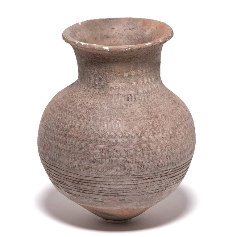 20th Century Nigerian Nupe Incised Water Vessel For Sale