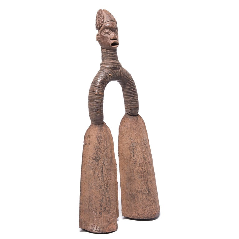 19th Century Pair of Pre-Colonial Cameroonian Double Bell Currency For Sale