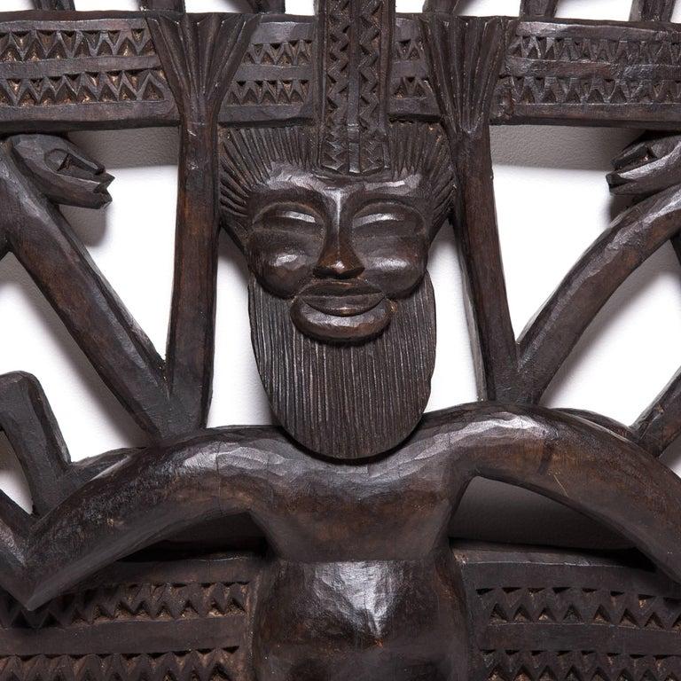 Senufo Kworo Headdress In Good Condition For Sale In Chicago, IL