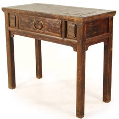 19th Century Chinese Console Table with Drawer