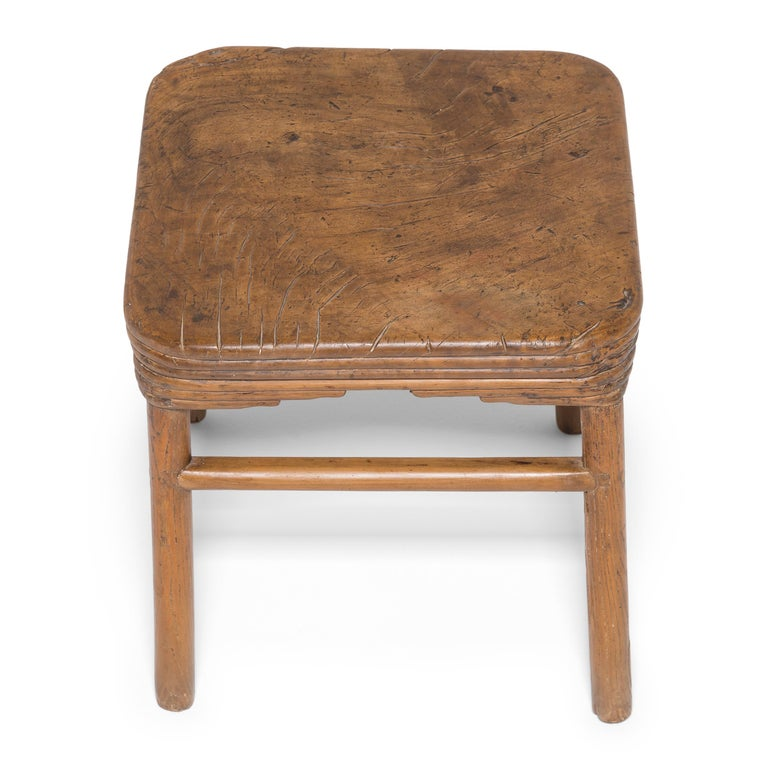 Other Early 19th Century Chinese Burled Top Feng Deng Stool For Sale