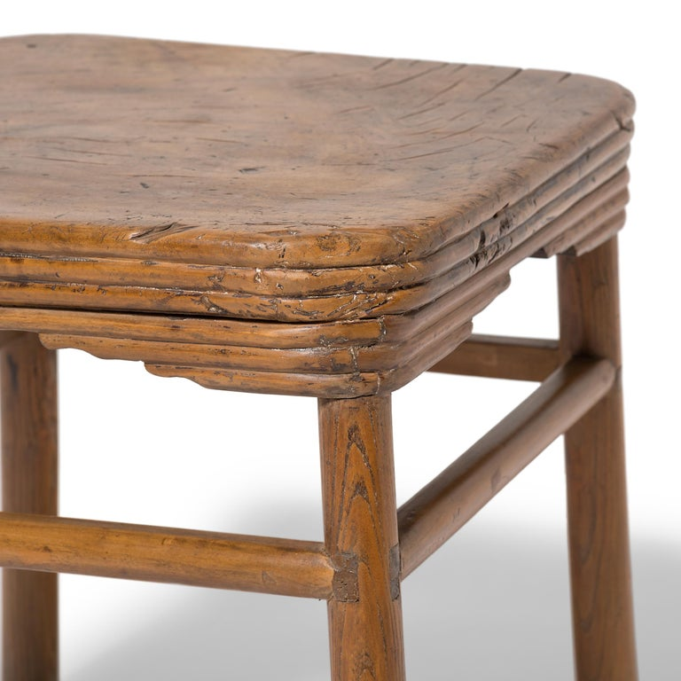 Early 19th Century Chinese Burled Top Feng Deng Stool For Sale 1