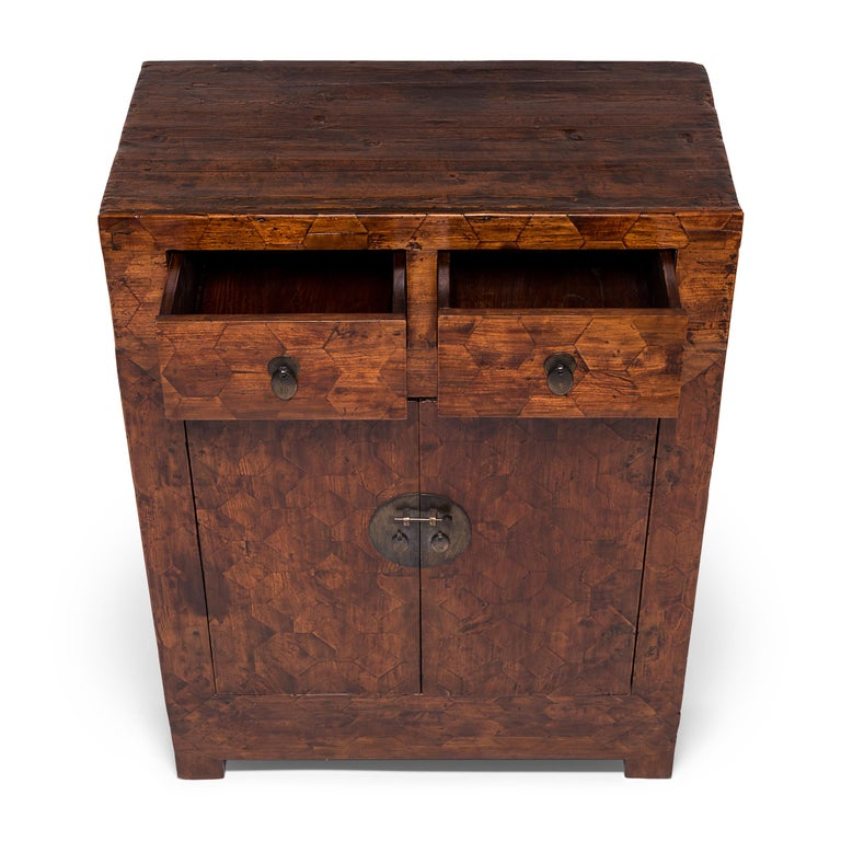 Early 20th Century Chinese Mixed Parquetry Cabinet For Sale 1