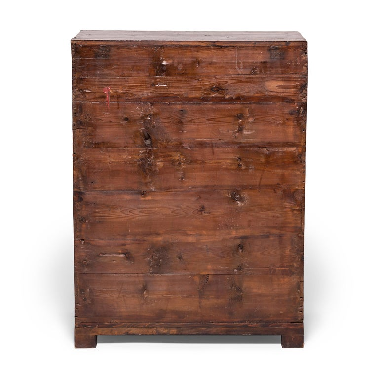 Early 20th Century Chinese Mixed Parquetry Cabinet In Good Condition For Sale In Chicago, IL