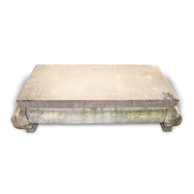 Grand 17th Century Chinese Limestone Table For Sale 1