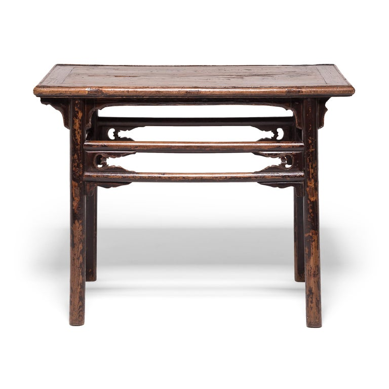 Qing Double Stretcher Console Table For Sale