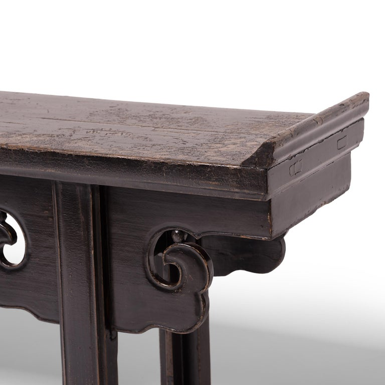 Console Table with Cloud Spandrels In Good Condition For Sale In Chicago, IL
