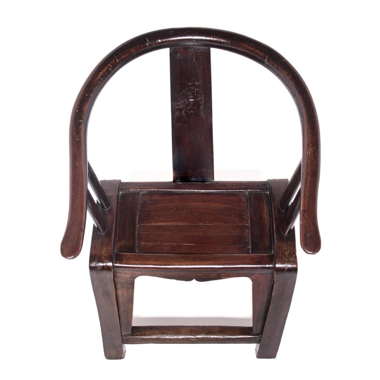 Elm 19th Century Chinese Roundback Chair For Sale