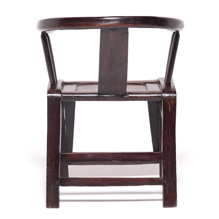 Qing 19th Century Chinese Roundback Chair For Sale