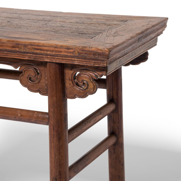 19th Century Chinese Wine Table with Cloud Spandrels For Sale 1