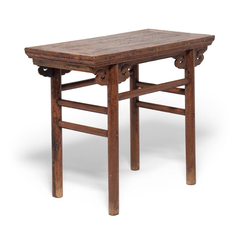 19th Century Chinese Wine Table with Cloud Spandrels In Good Condition For Sale In Chicago, IL