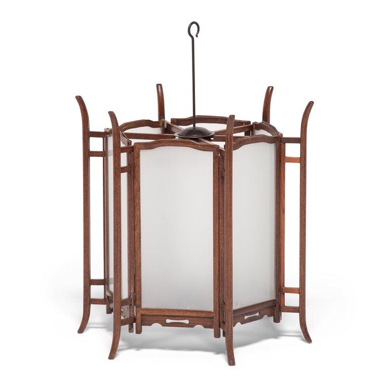 Pair of 19th Century Chinese Rosewood Lanterns For Sale 2
