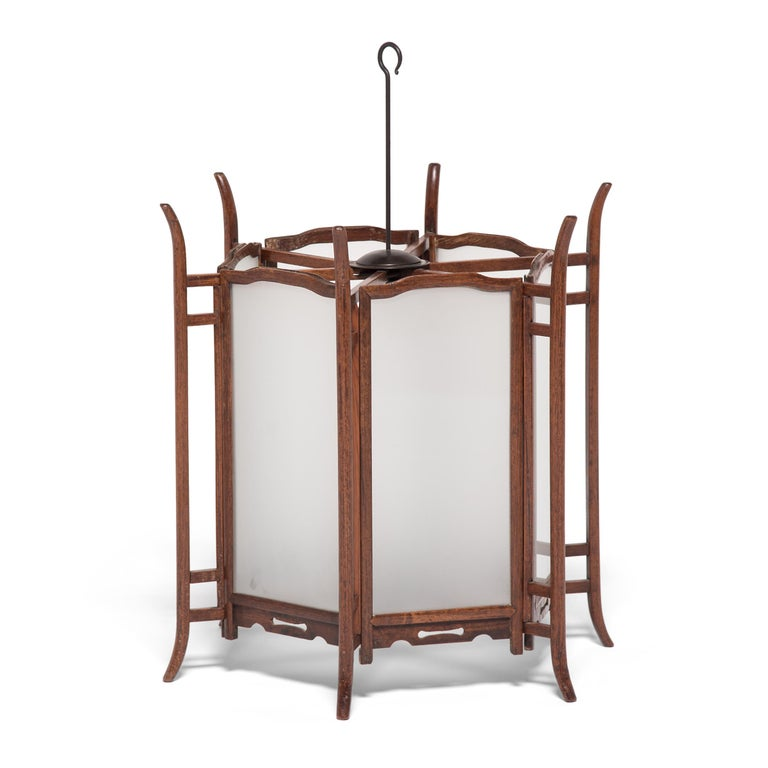 Pair of 19th Century Chinese Rosewood Lanterns For Sale 3