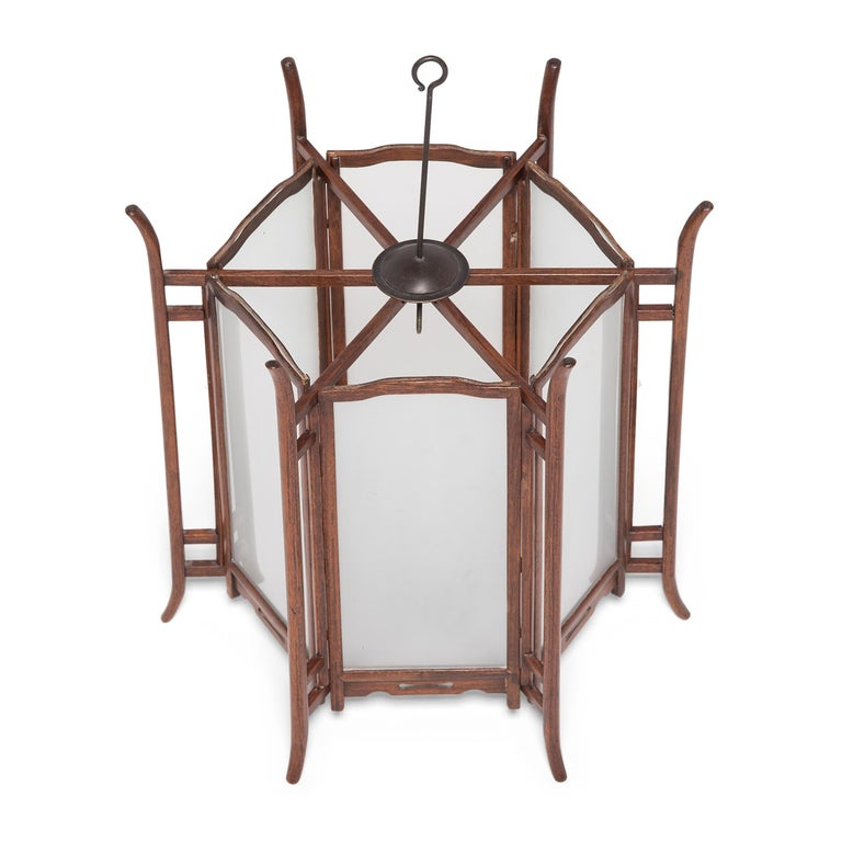 Pair of 19th Century Chinese Rosewood Lanterns For Sale 6