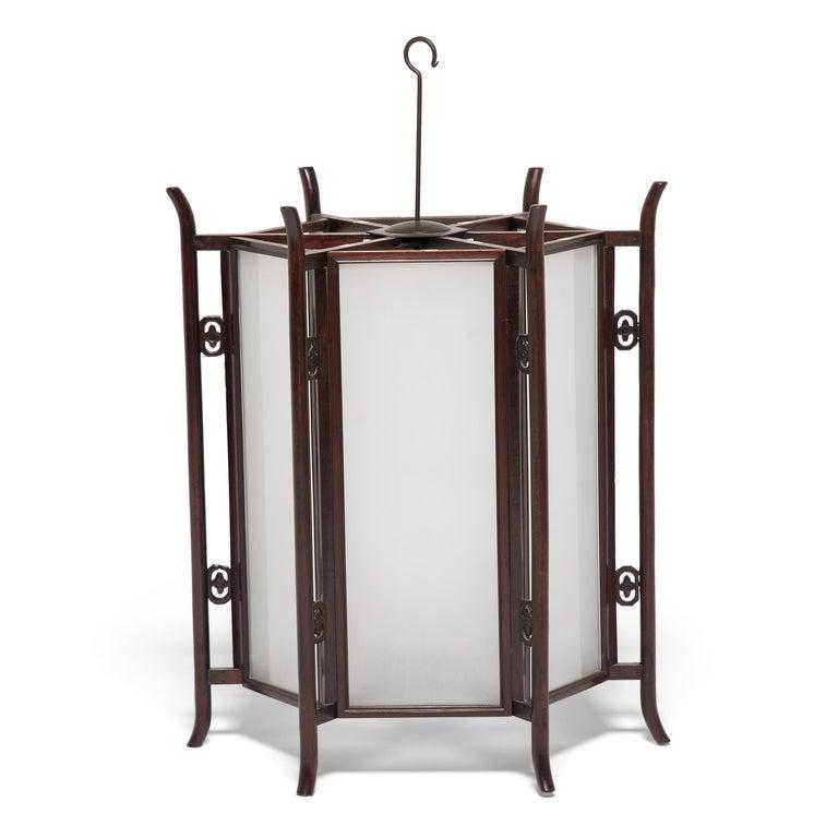 19th Century Chinese Rosewood Prosperity Lantern