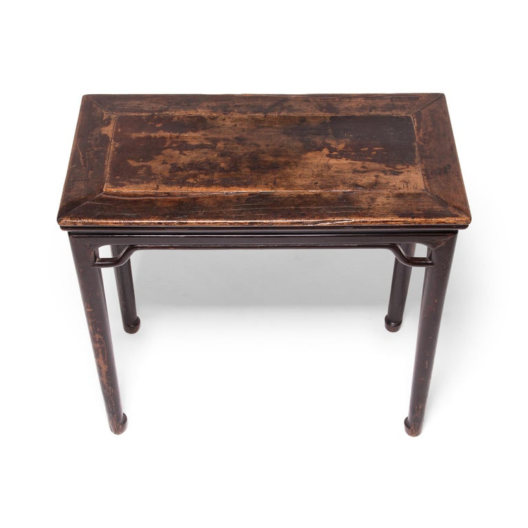 19th Century Chinese Console Table with Hoofed Feet In Good Condition For Sale In Chicago, IL