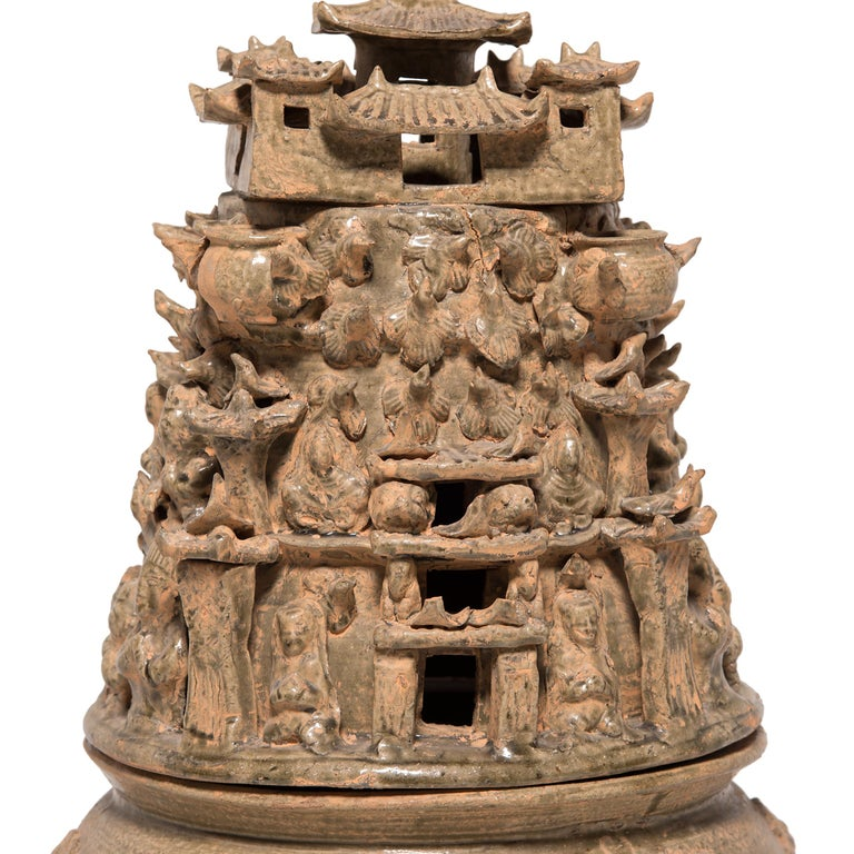Chinese Pair of 19th Century Buddhist Temple Vessels For Sale