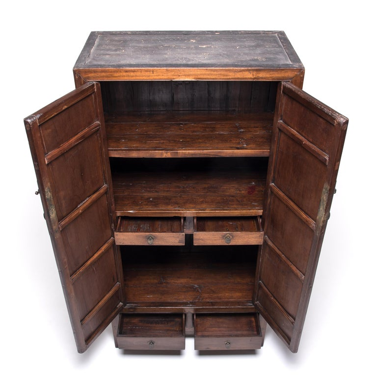 Chinese Square Corner Scholar's Cabinet For Sale 1