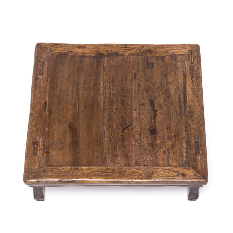 Elm 19th Century Chinese Provincial Low Table For Sale