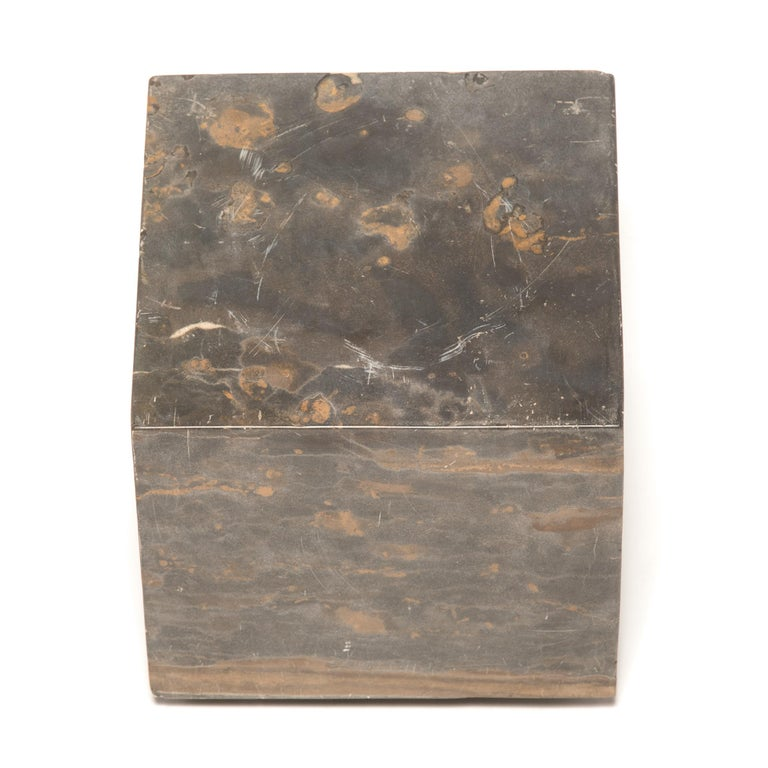 Contemporary Small Chinese Marble Doon Table For Sale