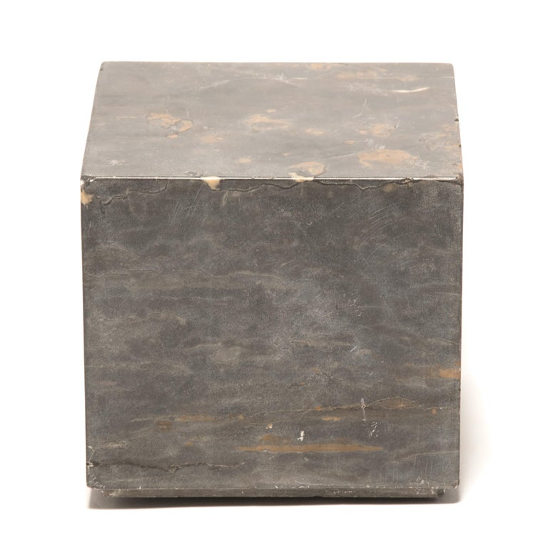 Minimalist Small Chinese Marble Doon Table For Sale