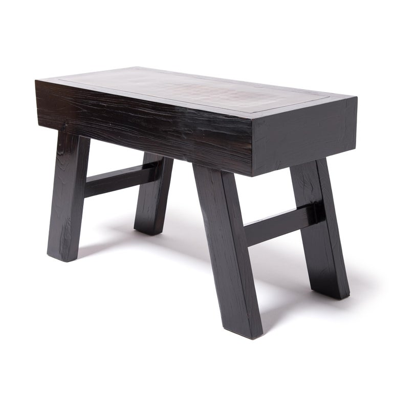 Minimalist Chinese Pressed Ceramic Top Table For Sale