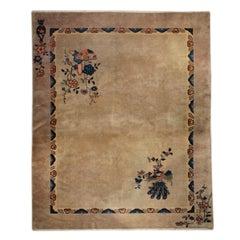 Chinese Art Deco Peacock Carpet